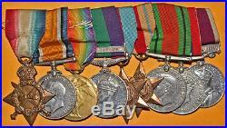 05 25 Group of 9 British Medals of World War WW1 & WW2 Africa Palestine Medals