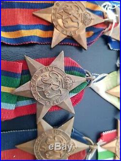 100% Original WW2 Star Medals 8 medals