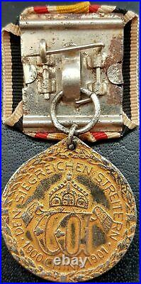 10270 German pre WW1 mounted China Campaign Medal combatant Denkmünze 1902