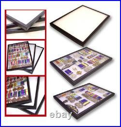 12 Display Cases British German WWII WW2 Medal Badges Cloth Dealer Special