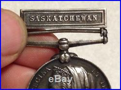 1885 North West Saskatchewan Rebellion Medal ID'd Canada CEF WWI WW1 Canadian