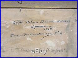 1917 Ex voto dipinto grazia ricevuta Soldati Guerra Altipiani Asiago Dipinto WW1