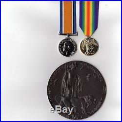 1st World War British war & Victory medals & Memorial Plaque Replacement medals