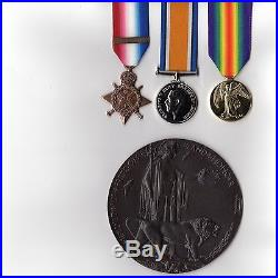 1st World War Trio GV with Memorial Death Plaque Replacement medals