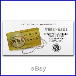 2018 World War I Centennial Silver Dollar Air Service Medal Set SKU#159195