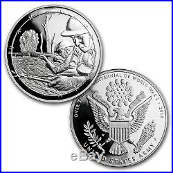 2018 World War I Centennial Silver Dollar Army Medal Set SKU#159197