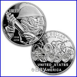2018 World War I Centennial Silver Dollar Navy Medal Set SKU#159200
