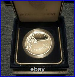 2020 END OF WORLD WAR II 75th ANNIVERSARY AMERICAN EAGLE SILVER MEDAL