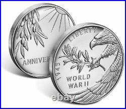2020 P End of World War 2, II 75th Anniversary 1oz Silver Medal Eagle PCGS PR69
