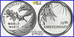 2020-P End of World War II 75th Anniversary Silver Medal PCGS PR70DCAM