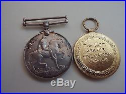 4 Medals World War I 1914 1918 & Great War for Civilisation Some Cancelled