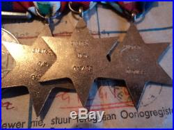 5 sets of WW2 medals to South African serviceman Oliver -Young Swan Izatt
