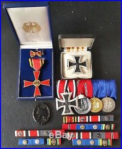 7183 German medal group veteran legacy post WW2 1957 pattern