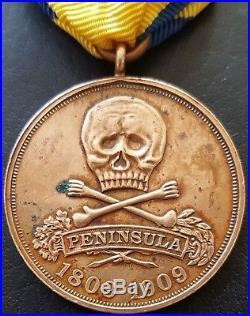 7946 German WW1 Brunswick Peninsula Commemorative Medal 17th Totenkopf Hussar