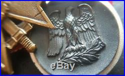8529 German mounted medals post WW2 1957 pattern Iron Cross Eastern Front ST&L