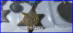 9 x ww2 British medals The africa star the atlantic star, The air crew Europe