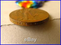 AUST WAR MEDAL WW1 3550 PTE HUNTER E A 29th & 32nd BN AIF (BROKEN GROUP)