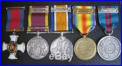 A Ww1 And China 1900 Mesopotamia Frontier Force Dco MID Medal Group Wia Etc