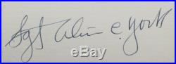 Alvin C. York World War I Medal Of Honor Recipient Hero In France Autograph