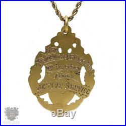 Antique Australian WW1 9ct gold return services shield medal pendant Aronson