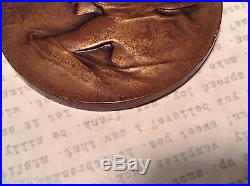 Antique French 1914 World War One Revanche! Commemorative Bronze Medal
