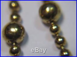 Antique Soldier Military Ww1 Gold Wash Brass Pull Chain Pocket Rosary Medal