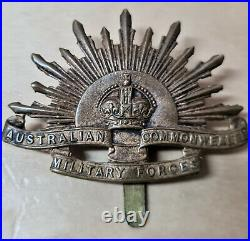 Australian Anzac Ww1 Light Horse Rising Sun Uniform Hat Or Cap Badge Medal 10