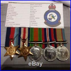 Australian Original Raaf Ww2 Medal Group Of 5 467 Squadron Kia Pilot Original
