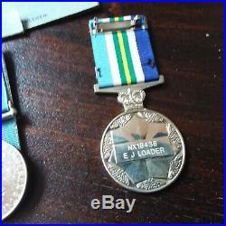 Australian Original Ww2 Post Ww2 Medal Group Of 7, Plus Photos Nx19436 Ej Loader