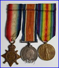 Australian WW1 Medal Trio to Corporal 1st AIF Original Ribbons and Mounting