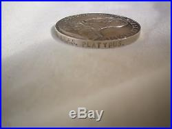 Australian WW1 era RAN Long Service and Good Conduct medal. HMAS Platypus