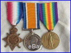 Australian WW1 medal trio. 13/Bn. Wounded Gallipoli. AIF
