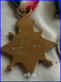 Australian WW1 medal trio & pair to brothers 10Bn 2Lieut KIA, 32Bn WIA Fromelles