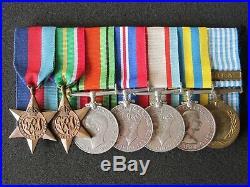 Australian WW2 and Korean War medal group. Royal Australian Navy