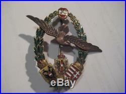 Austria sea pilot badge imperial medal very rare original stamps producer WW I