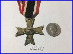 Authentic 1939 WWII WW2 German Iron Cross Brass Medal with Ribbon! NO RESERVE