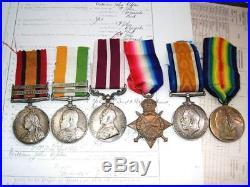 Boer War & MSM WW1 medals Gallipoli Somme 1st July Sgt Upton E Kent & Essex Regt