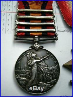 Boer War QSA WW1 medal group 4bar CC OFS SA01 02 Sergeant W E Bracey Wright SAC