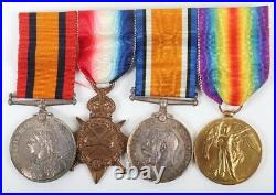 Boer War and WW1 Medal Group of Four Commander William Malcolm Martyr Robinson