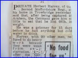 Boxed Ww2 Arhem Pow Prisoner Of War Medal Group South Staffs Airbourne