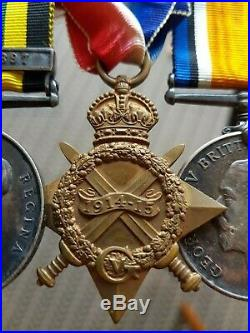 Brilliant WW1 Victorian 19thc AGS Benin 1897 Trio Irish Donegal Navy Medal Group