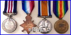 British WW1 Military Medal & Mons Star Trio Herbert Howe Army Service Corps