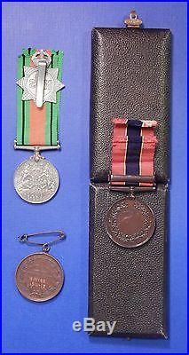 British World War 2 And Long Service Medal Group Henley Fireman Blitz Ab0162