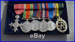 CANADA WW2 MEDAL GROUP + MINIATURES (BRITISH EMPIRE + EFFICIENCY) Capt. B587