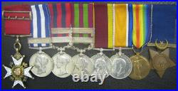 CB MEDAL GROUP EGYPT 1882 INDIA GS x 2 CHINA 1900 WW1 PAIR AS BRIGADIER GENERAL