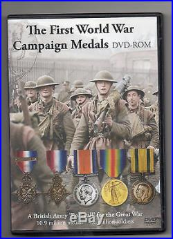 CD Rom First World War Medals 10.9 Million Medals 4.6. Million Soldiers