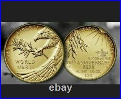 CONFIRMED End of World War II 75th Anniversary 24-Karat Gold Coin UNOPENED