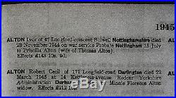 Casualty WW2 Medal Group Of 5 1939-45, Burma, Africa Stars, War & Defence Medals
