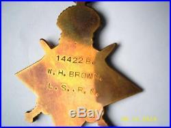 China Boxer rebellion 1900 & WW1 Trio medals P Officer H Brown RN born Hong Kong