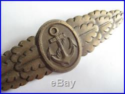 Close combat clasp of Kriegsmarine German Navy WW II original medal antique rare